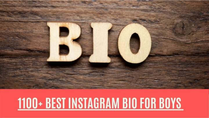 Read more about the article 1100+ Best Instagram Bio for Boys with Emoji 2021 | Stylish Bio for Instagram 2021